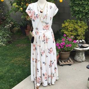 Free People maxi boho dress